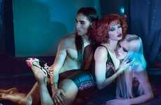 Touchy Trio Shoots - The W Magazine Lara Stone Issue is Sizzling
