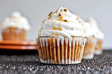 Festive Hybrid Confections - These Sweet Potato Pie Cupcakes Brings the Magic of Pie to a Tasty Cake