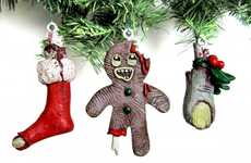 Undead Holiday Decor - The Zombie Christmas Ornaments Make for a Very Scary Christmas