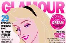 Chic Cartoon Periodicals - Disney Princess Magazine Covers Make Couture Look Cute