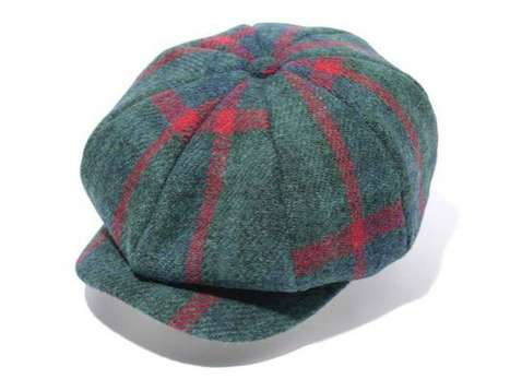 bape x harris tweed cap collection