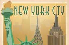 Vintage American City Prints