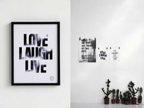 Typographic Motivational Prints - Therese Sennerholt Aims to Inspire with Words of Wisdom