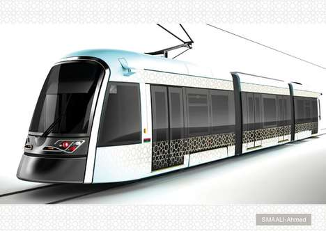 Elaborately Patterned Light Rail - Libya
