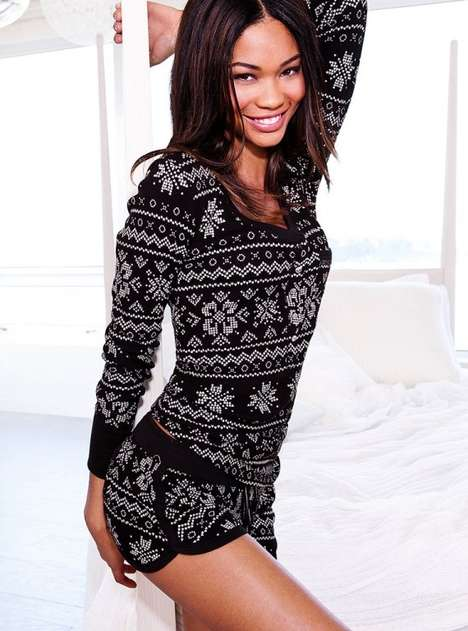 Chanel Iman for Victoria's Secret Holiday 2011 Sleepwear