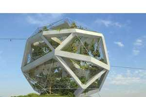 From Distorted Geometric Buildings to Park-Front Patios