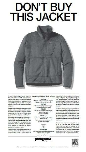 patagonia new york times ad