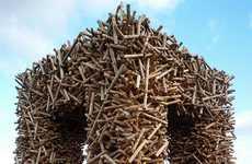 Spruce Log Sculptures