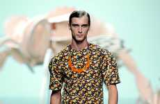 Flower-Printed Menswear - The Ana Locking Spring 2012 Collection Offers Full-Bloom Fashion