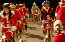 Pedaling Kris Kringles - McDonald's 'Cycling Santas' Commercial Promotes Holiday Offerings