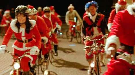 mcdonald s cycling santas