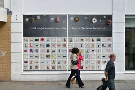 Scannable Window Shopping - John Lewis Virtual Shop Lets People Conveniently Click and Collect