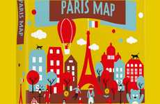 Cute Cartoony Cartography - Crumpled City Junior Maps Are Alive with Colorful Illustrations