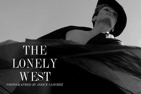 Formal Cowboy Photography - 'The Lonely West' by Jerick Sanchez Plays with a Vintage Western Theme