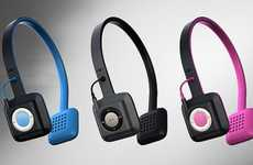 Headset MP3 Docks - The ODDI01 Headphones are Designed to Hold the iPod Shuffle
