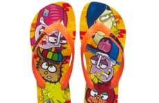 Street Art Sandals - These Havaianas Graffiti Flip Flops are Electric-Hued