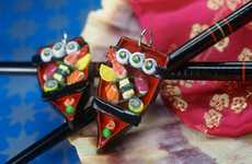 Sassy Sashimi Accessories - These Sushi Boat Earrings Look Good Enough to Eat