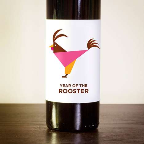 Amazing Animalistic Labels - The Chinese Zodiac Wine Labels are for Star Gazers and Animal Lovers