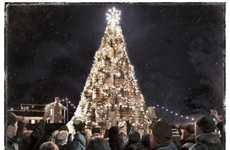 Drink Barrel Arboreals - Jack Daniel's 'Barrel Tree' is a 26-Foot-Tall Christmas Tree