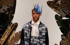 Plastic Comb Crowns - The Christopher Shannon Spring 2012 Collection is Eccentric