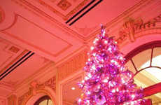 Fashionable Fuchsia Arbores - The Betsey Johnson Christmas Tree is Chic and Girly