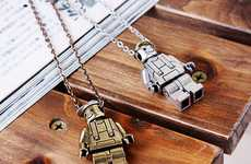 Charming Building Block Men - The LEGO necklace by Guylook is Retro-Chic