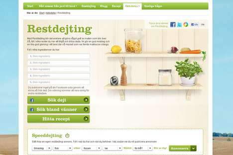 Food-Based Matchmaking - Lantmannen's 'Restdejting' Dating Service Uses Leftovers to Pair Up People