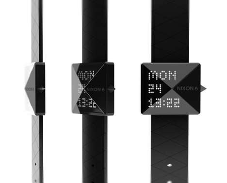 Black Diamond Wristwatches - The Nixon Diamond Has a Simplistic and Sharp Design