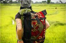 Cultural Camper Packs - Socially Conscious Ethnotek Bags' Travel Backpacks Conform to Desired Style