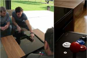 The Dual Arcade Table by Surface Tension Combines Fun with Fancy