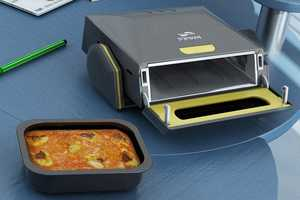 The Desktop Microwave is a Computer Peripheral For Preparing Food