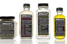 Blackboard Bottle Branding - Sprout Skincare Packaging Illustrates the Elementary Integrity Inside
