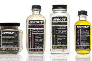 Sprout Skincare Packaging Illustrates the Elementary Integrity Inside