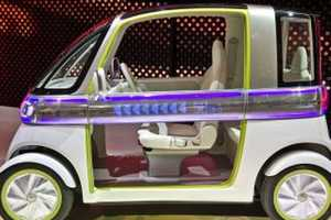 The Daihatsu Pico's Doors are Programmed to Flash Messages to Motorists