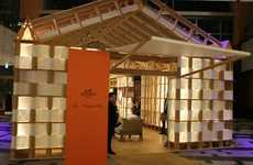 Luxury Paper Pop-Ups - Hermes + Shigeru Ban Pavilion is an Eco-Friendly Design
