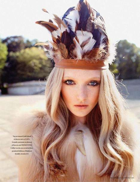 Ethnic Boho Pictororials - The Maja Salomon by Marcin Tyzka Shoot is Fur-Clad