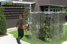 Upcycled Water Bottle Gardens - The PET Tree is a Vertical Garden for Eco-Conscious Urbanites