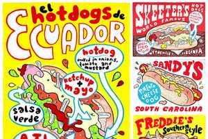 Food Artist and Illustrator Hawk Krall Creates Delicious Deptictions