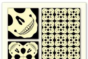 Josep Motas Makes Patterns Inspired by Skulls and Body Parts