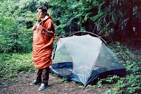 Suit-Up Sleeping Bags - Stay Snuggly in The Napsack While Resting & Being On-the-Go