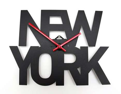 Goodwin + Goodwin Typographic Time Zone Clocks