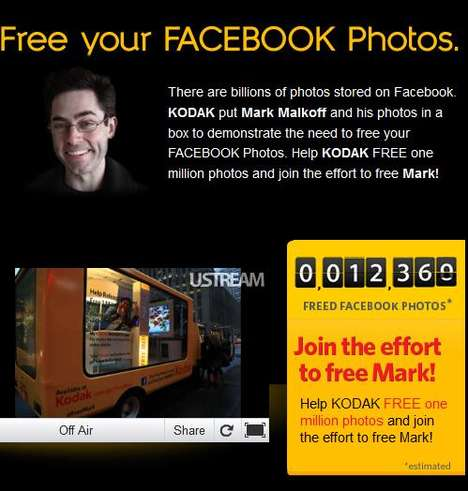 Photo-Liberating Campaigns - Kodak 'Free Mark' Campaign Aims to Set 1 Million Facebook Photos Free