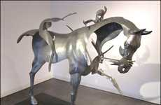 Dissipating Equestrian Sculptures
