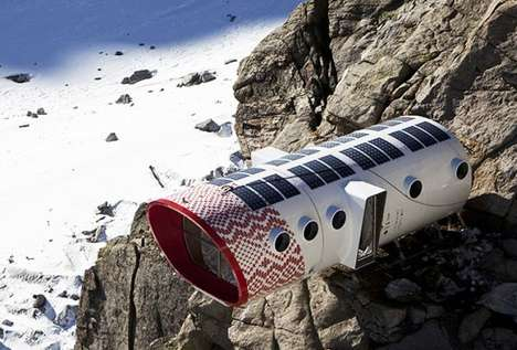 Alpine Pod Homes - Refuge Gervasutti Gives Climbers a Safe and Comfortable Shelter 9,300 Feet Up