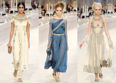 Haute Indian-Inspired Fashion - The Chanel Pre-Fall Collection Boasts Beautiful Exotic Looks