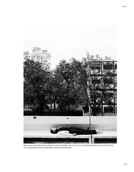 Posh Planking Captures - The Ilva Heitmann by Markus Pritzi for Sleek Magazine Shoot is Dramatic