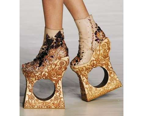 sculptural shoes