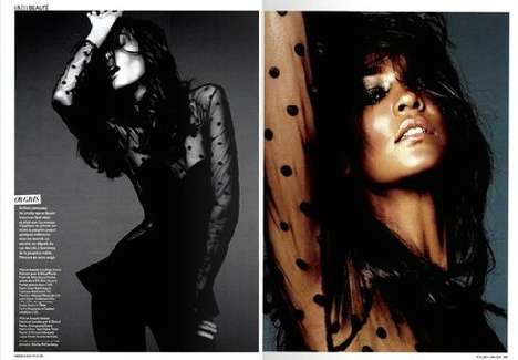 Liya Kebede for Grazia Magazine December 2011