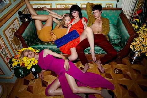 Disheveled Party Animal Campaigns - The Aqua by Aqua Fall/Winter 2011 Ad Campaign Gets Messy