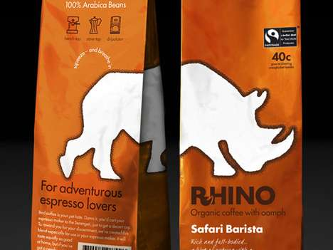 Rhino Coffee packaging